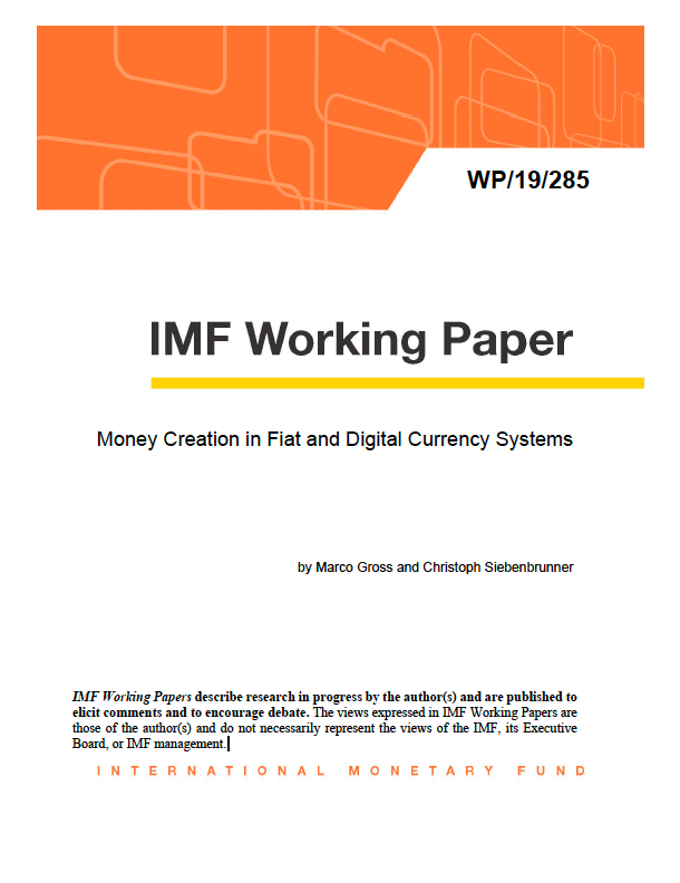 IMF: Money Creation in Fiat and Digital Currency Systems