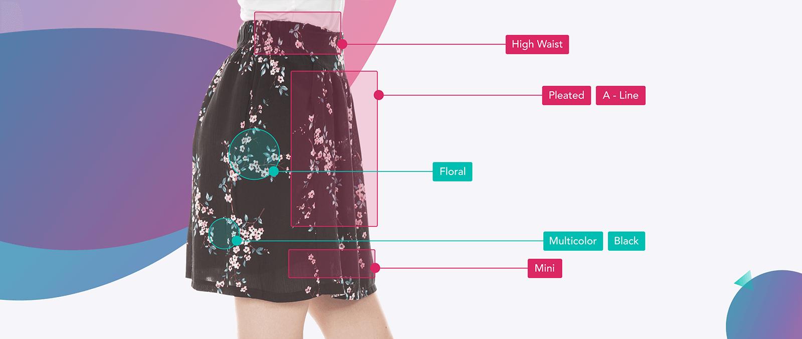 Floral, multicolor mini skirt
