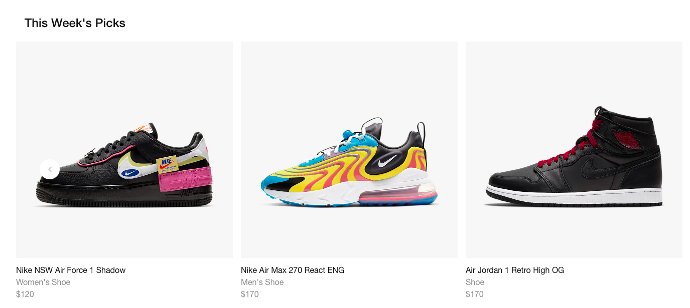 Online shopping platform for sneakers