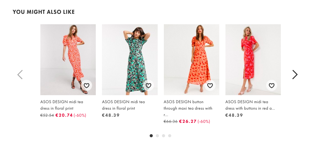 Midi dresses with floral print and 3/4 sleeves