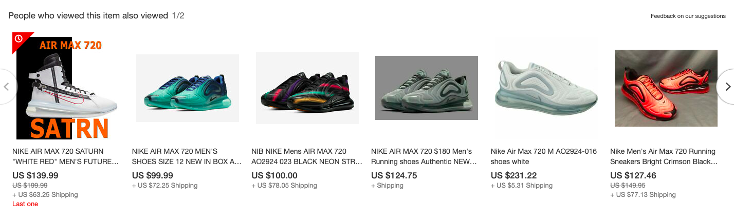 Nike sneakers that can be bought online