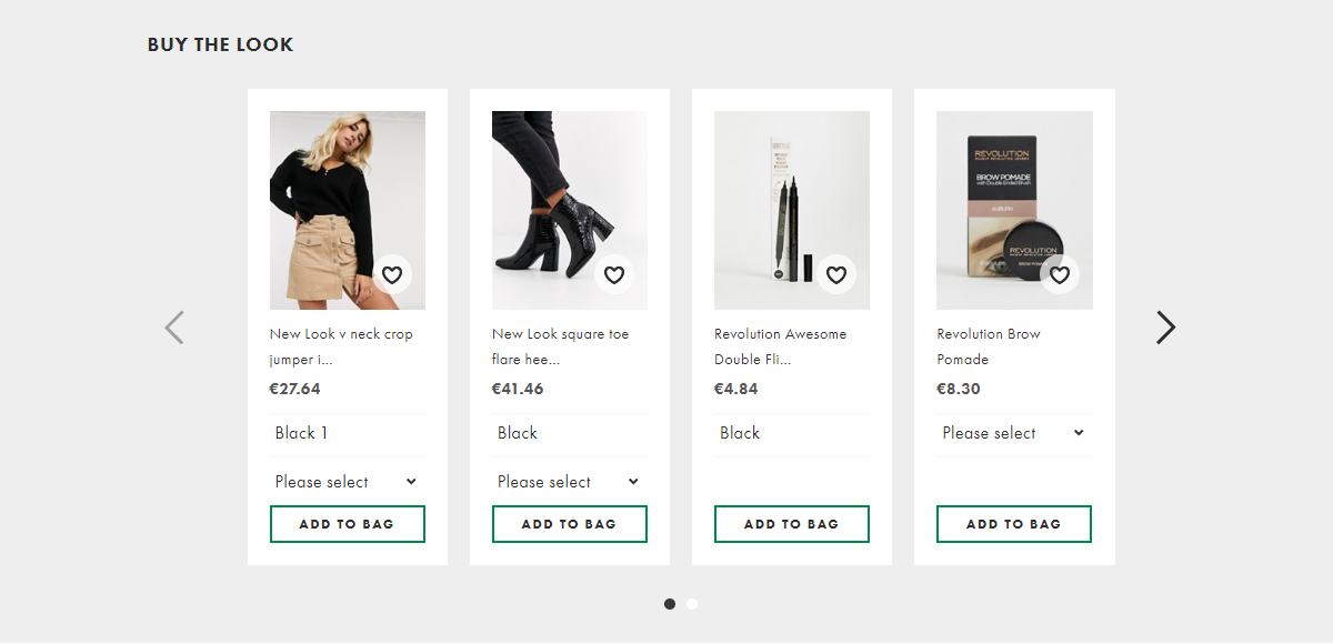 Shopping platform where you can buy the entire look