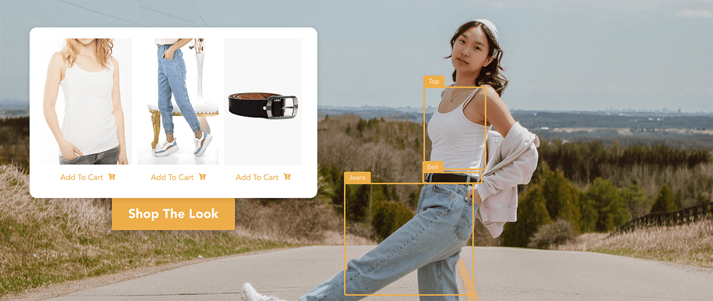 Shop the look for a girl wearing white tank top, jeans and black belt