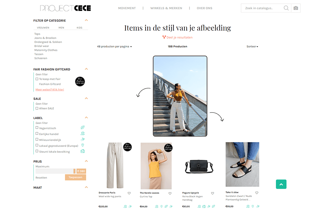 Project CECE's Visual Search powered by Pixyle