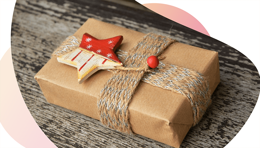 Gift with a star on it
