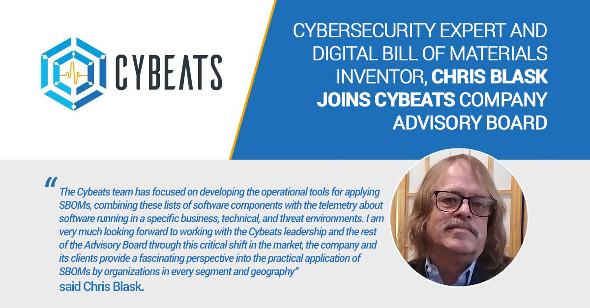 Relay Welcomes Renowned Cybersecurity Expert, Digital Bill of Materials Inventor, Chris Blask to Advisory Board