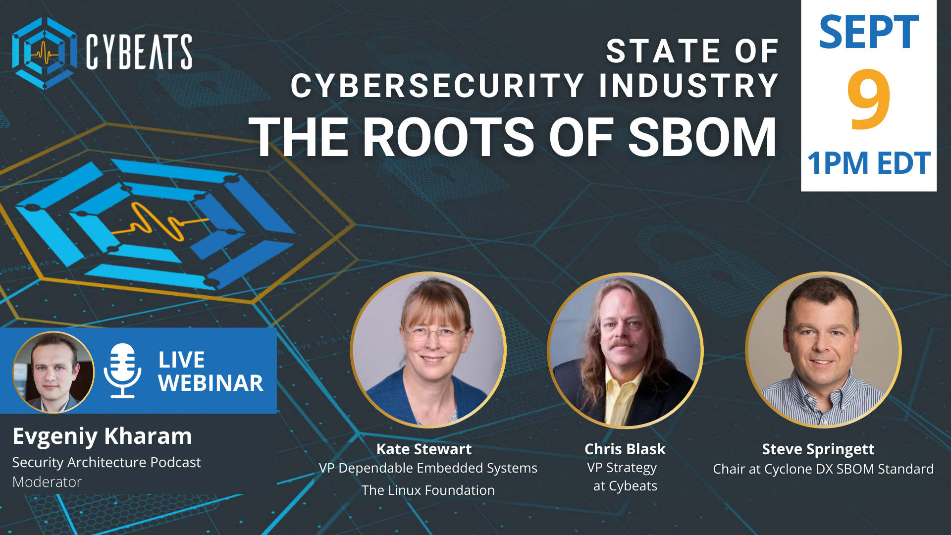 Relay to Host the 'Roots of SBOM' for their Second LIVE Webinar on the State of Cybersecurity Industry