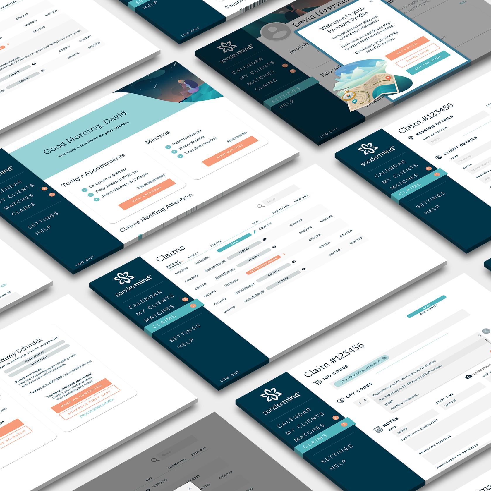 Screenshots of product UI.