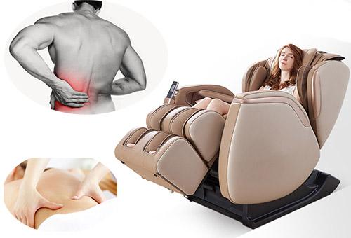 Điều trị đau lưng trái tại nhà bằng ghế massage Nhật Bản