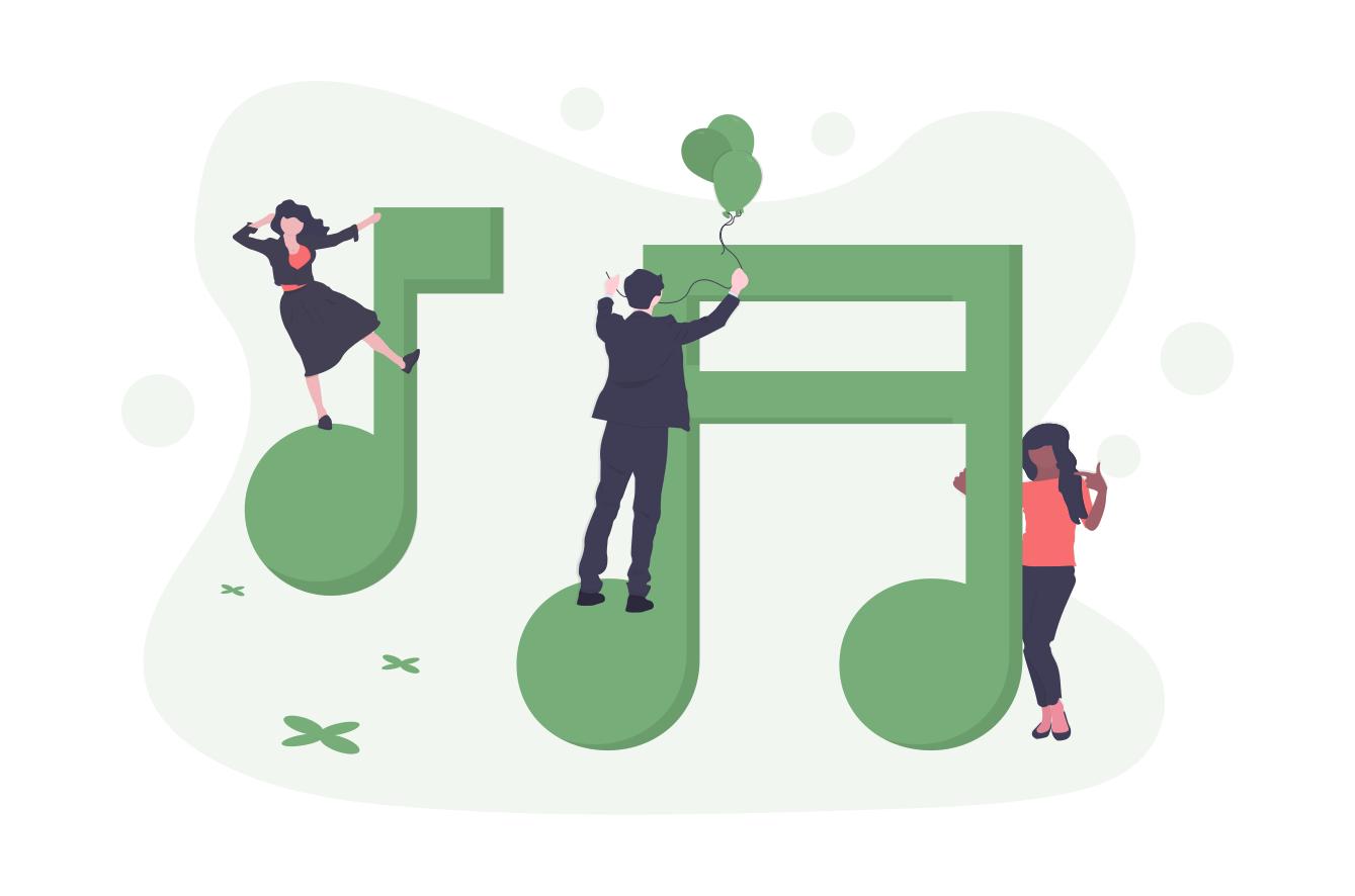 Eine Gruppe von Menschen, die gemeinsam Musik machen.