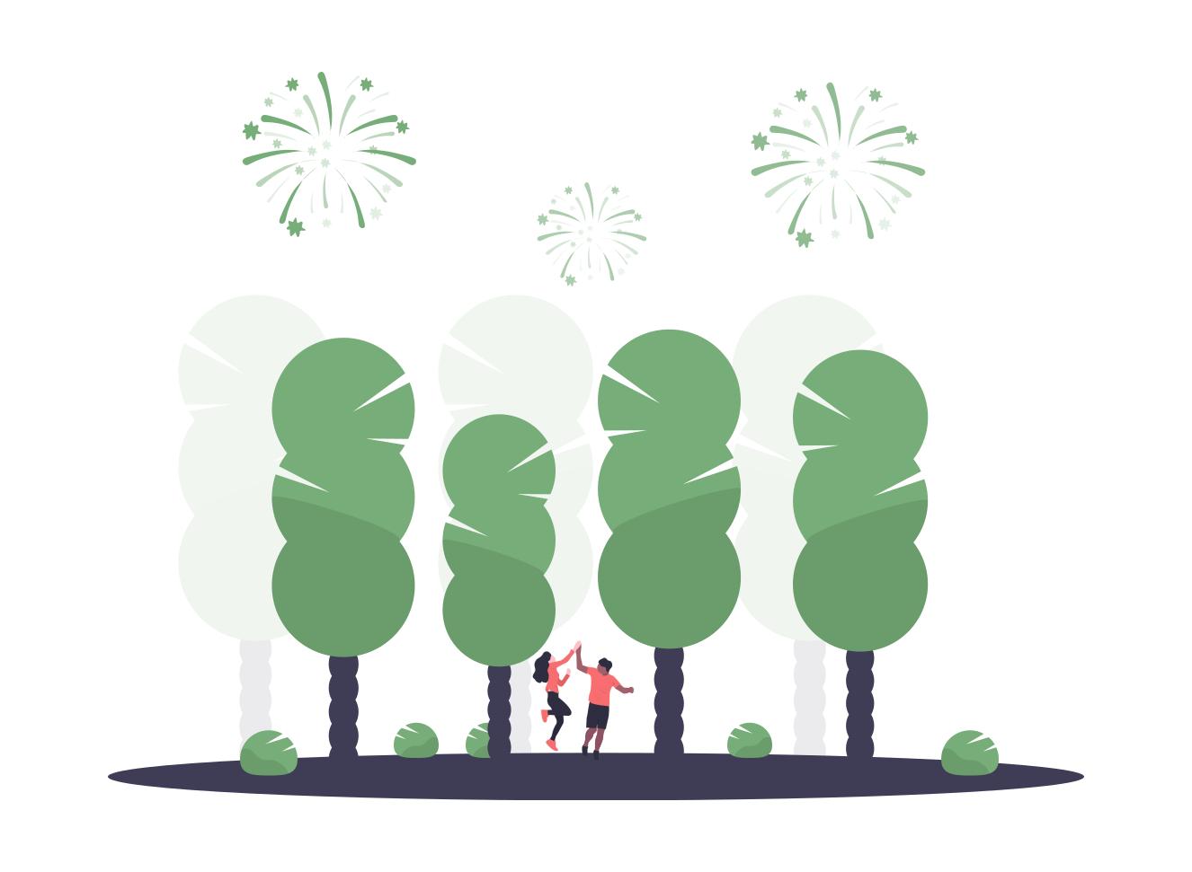 Eine illustrative Veranschaulichung von Festen und Veranstaltungen.