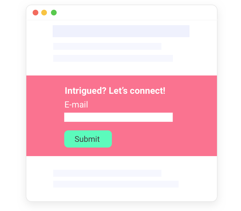 Drip emails: Turn visitors into leads with personalized messaging