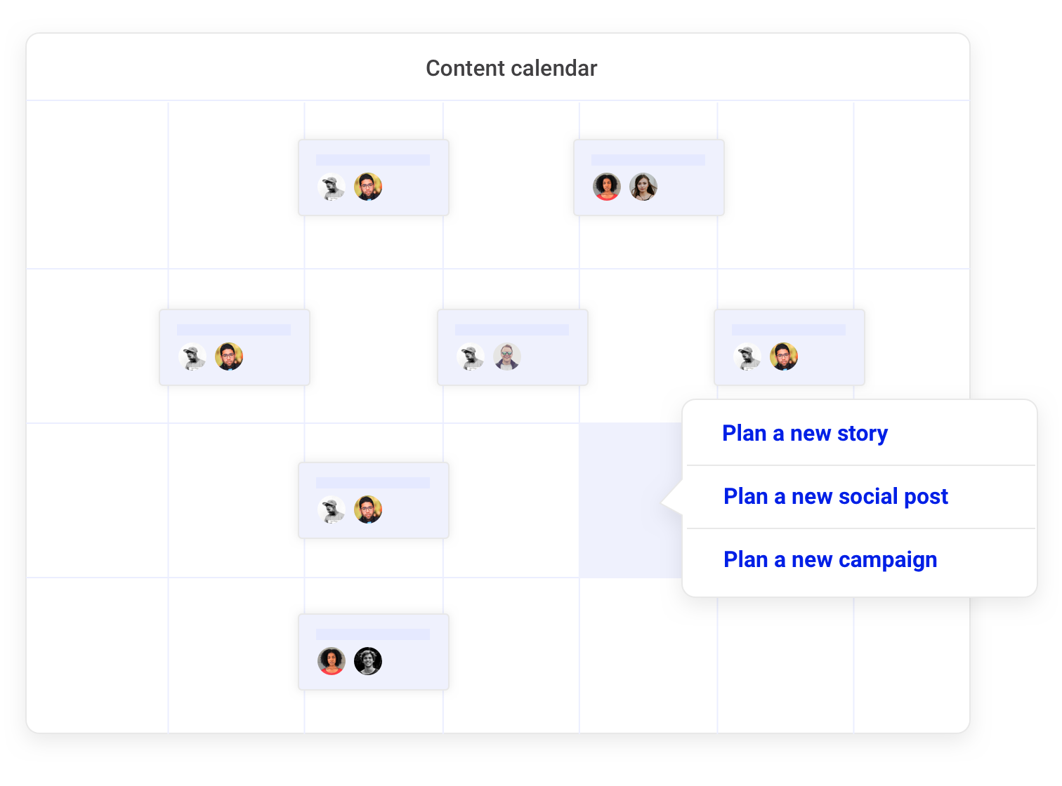 Social: See the big picture in one marketing calendar