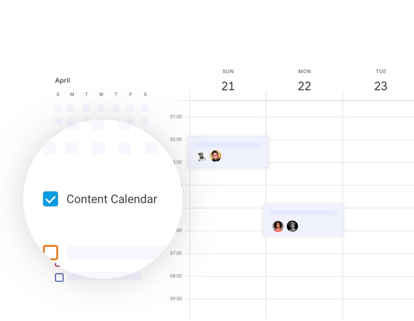 Calendar: sync