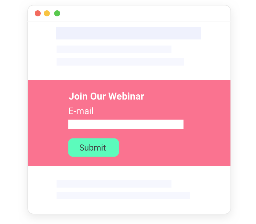 Webinars: Capture submissions