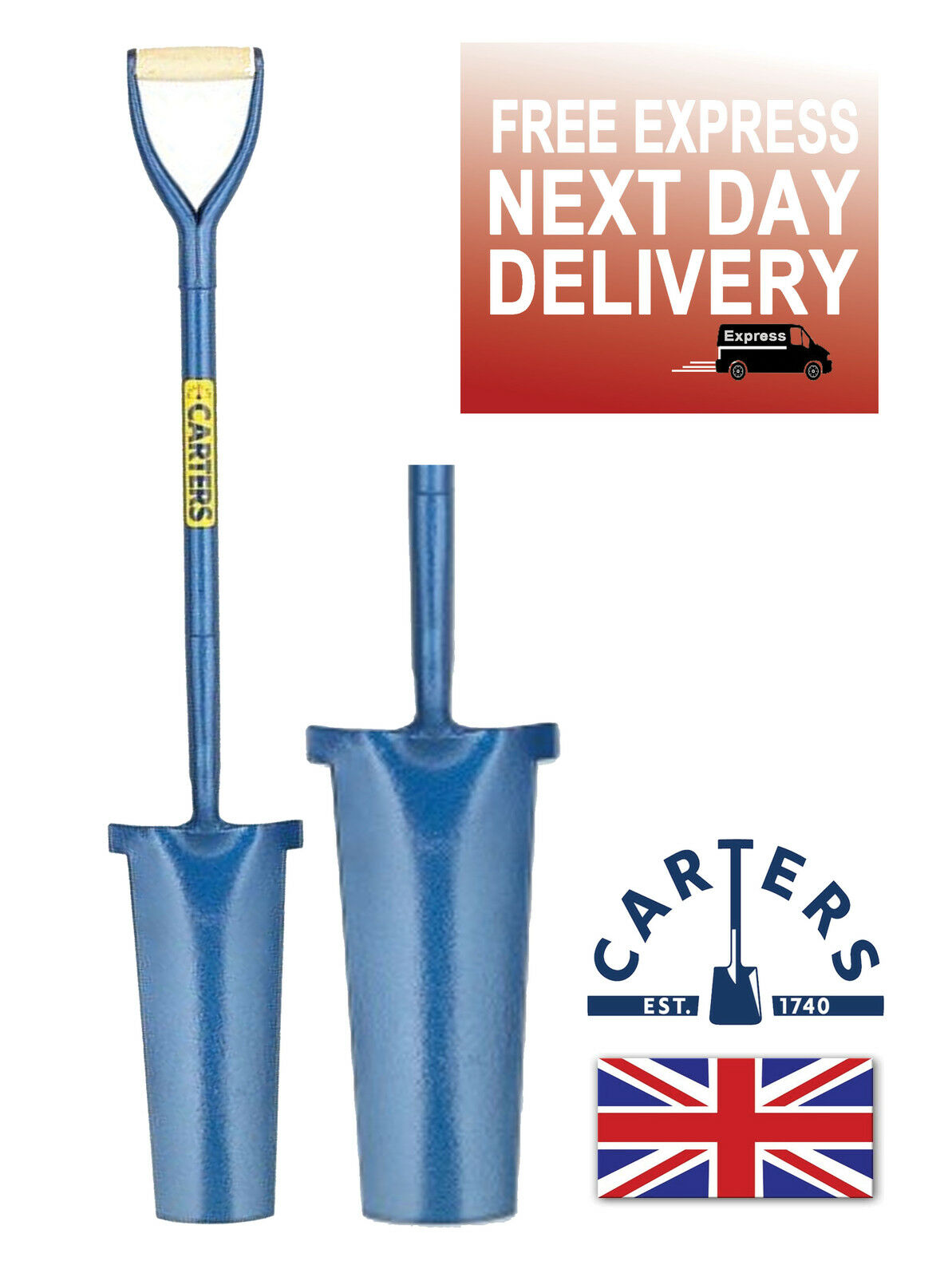 CARTERS PROFESSIONAL NEWCASTLE DRAINER GRAFTER POST DIGGING SHOVEL SPADE STEEL