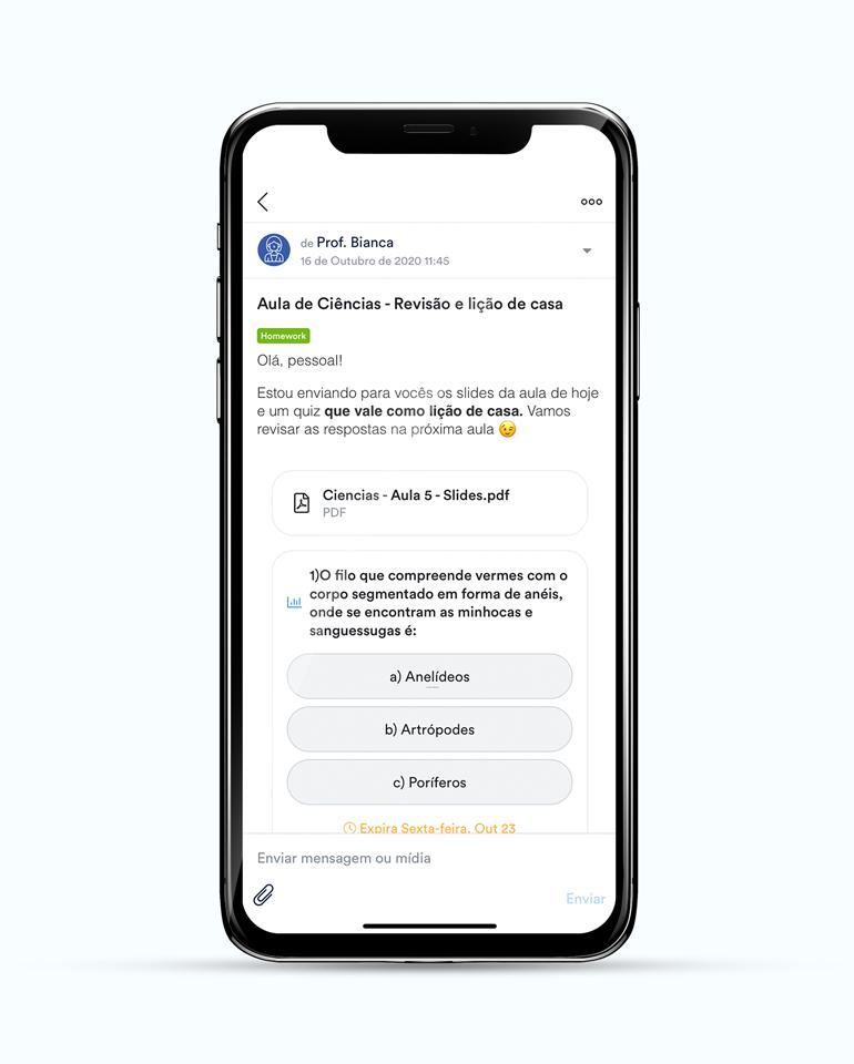 ClassApp: comunicados dinâmicos com maior participação escolar