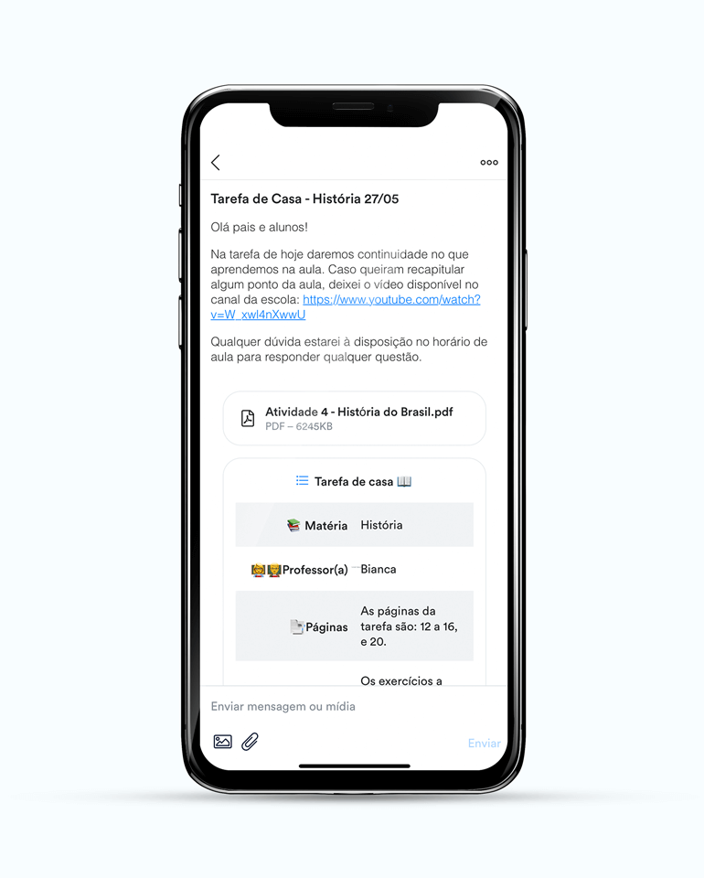 ClassApp: envie relatórios personalizados