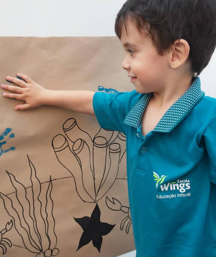 Foto de uma das atividades realizadas pela Escola Wings