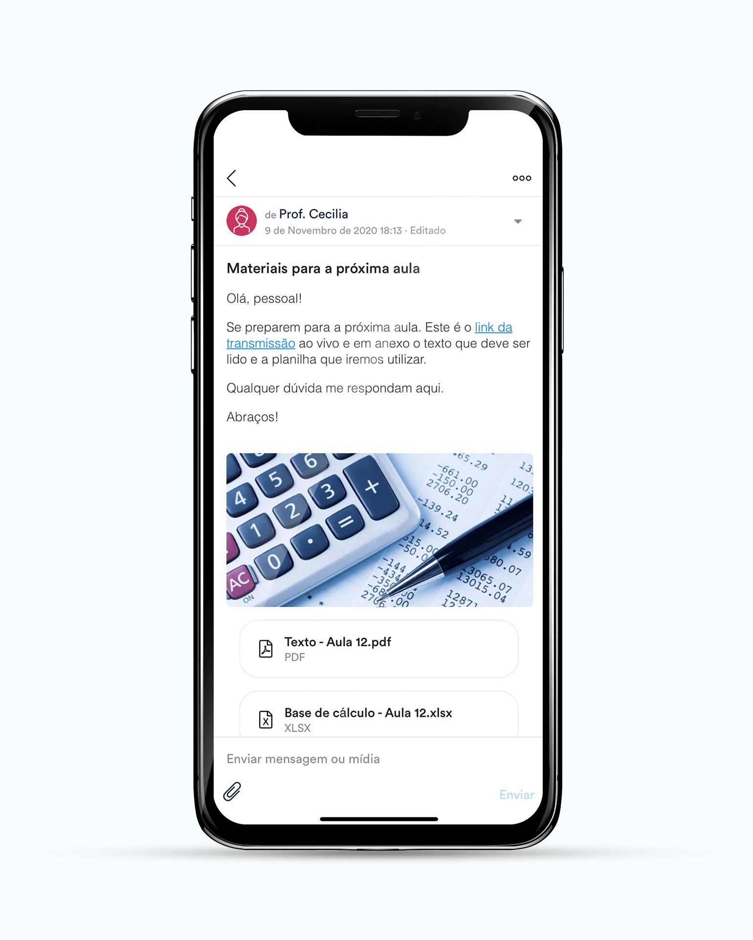 ClassApp: comunicados e conteúdos dinâmicos
