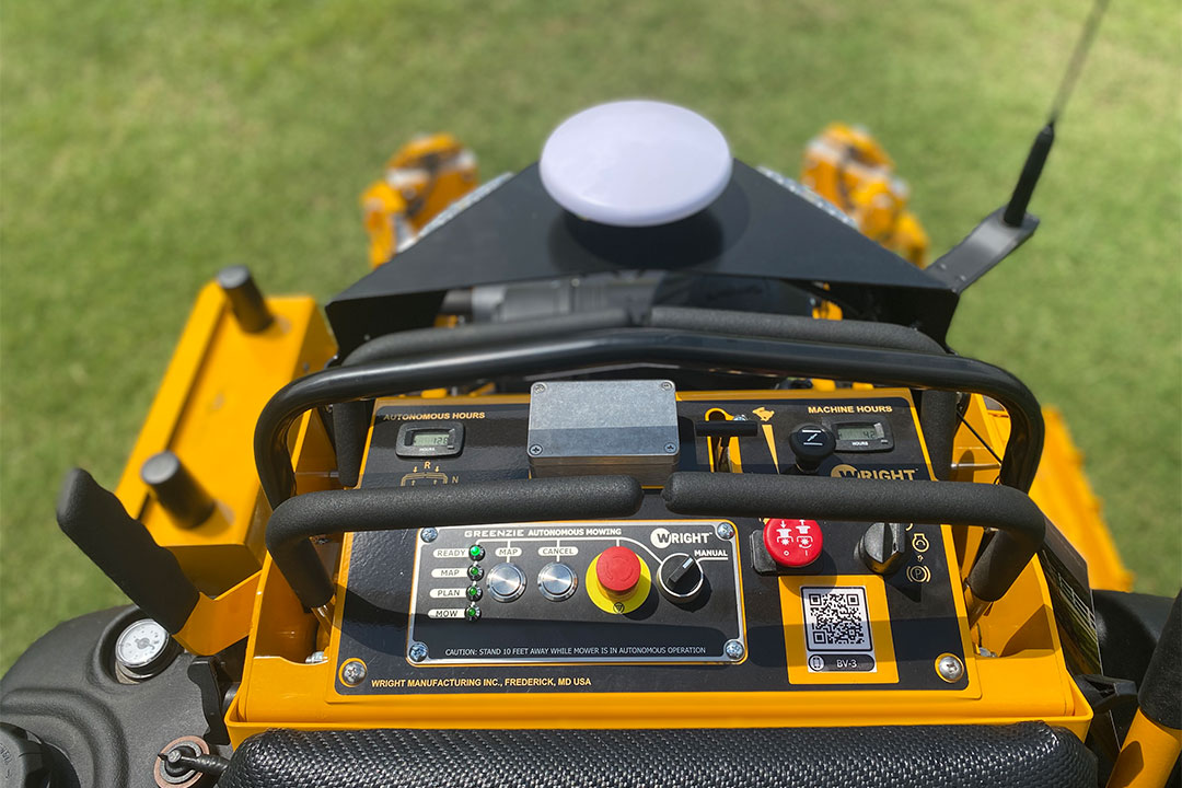 Control dashboard of mower