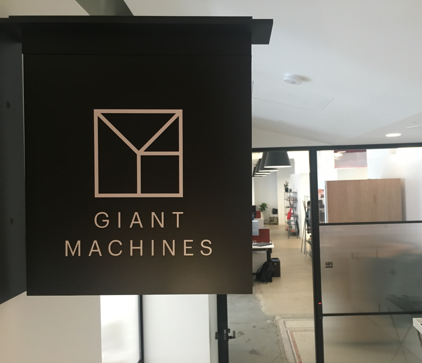 Giant Machines' front door