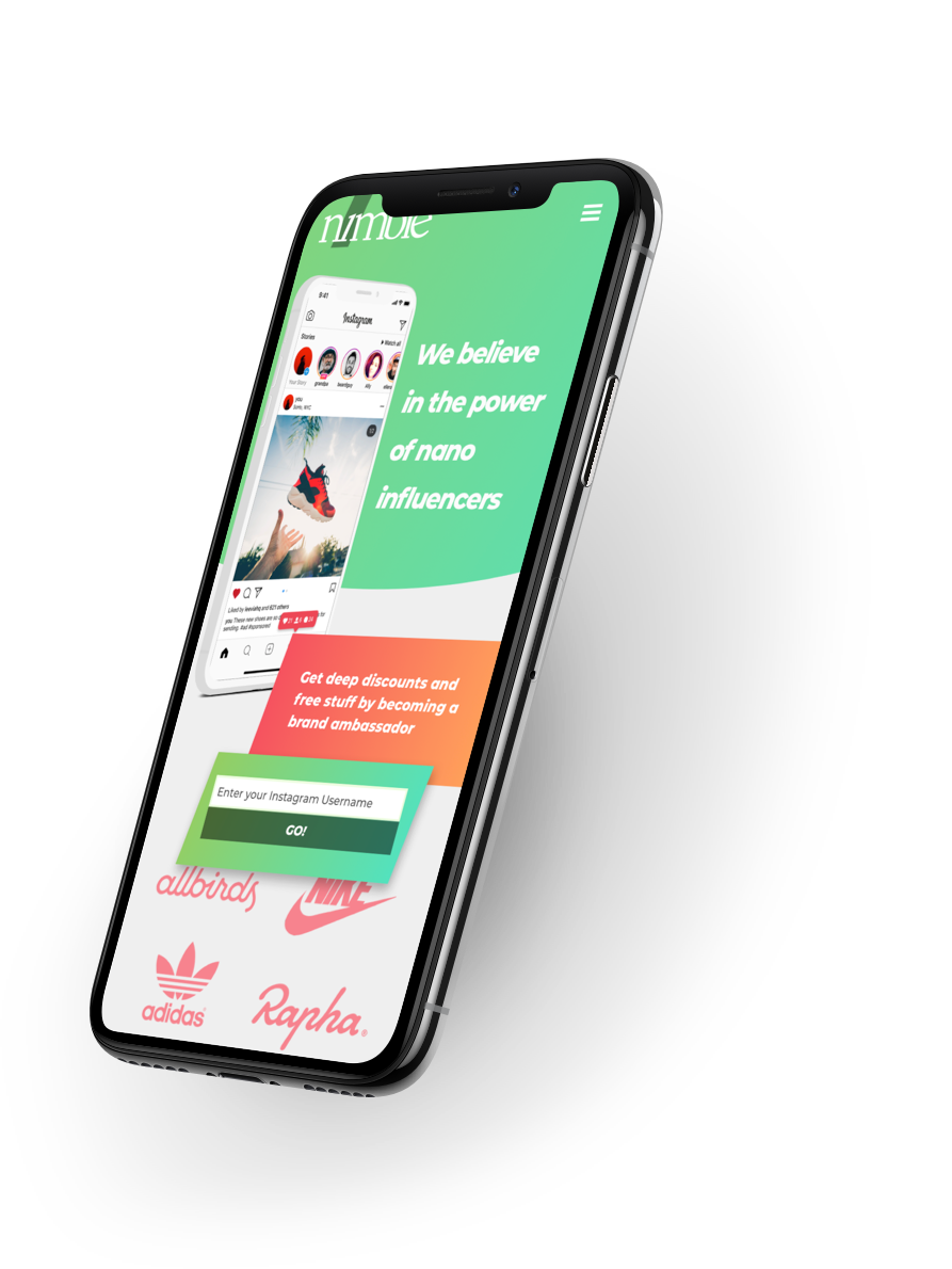 Mobile device with Nimble screenshot