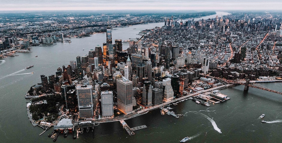 Financial District, NYC from above