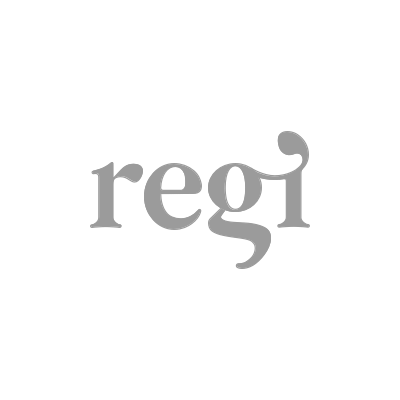 The logo for Regi