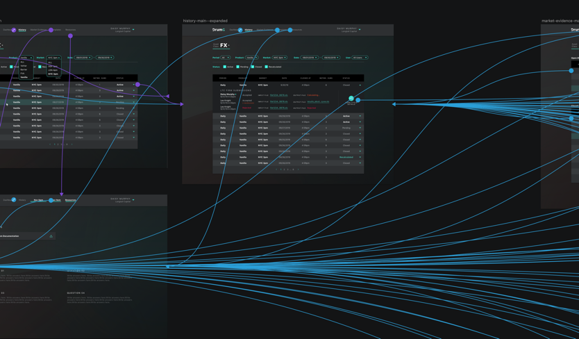 A zoomed in screenshot of prototype connections
