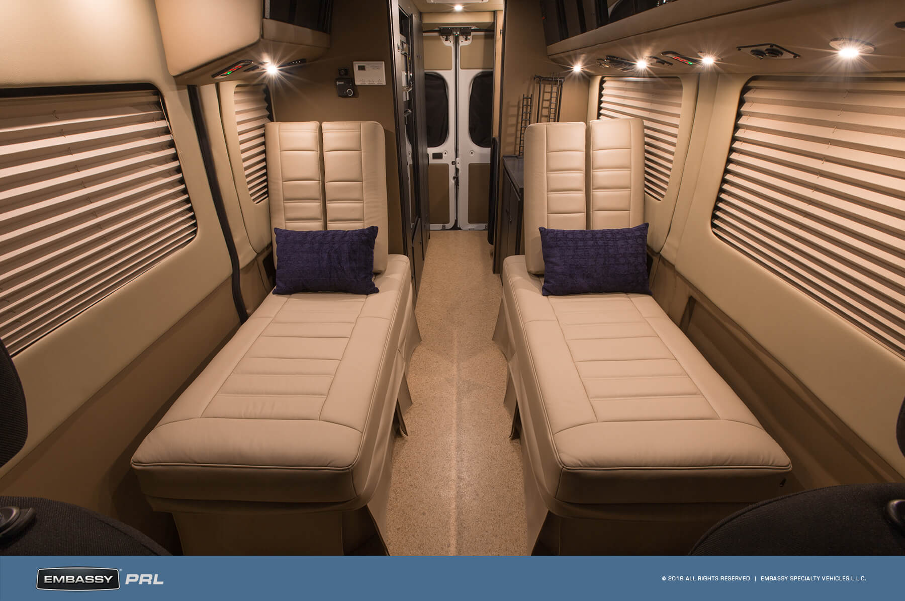 Embassy RV PRL Seat Configuration