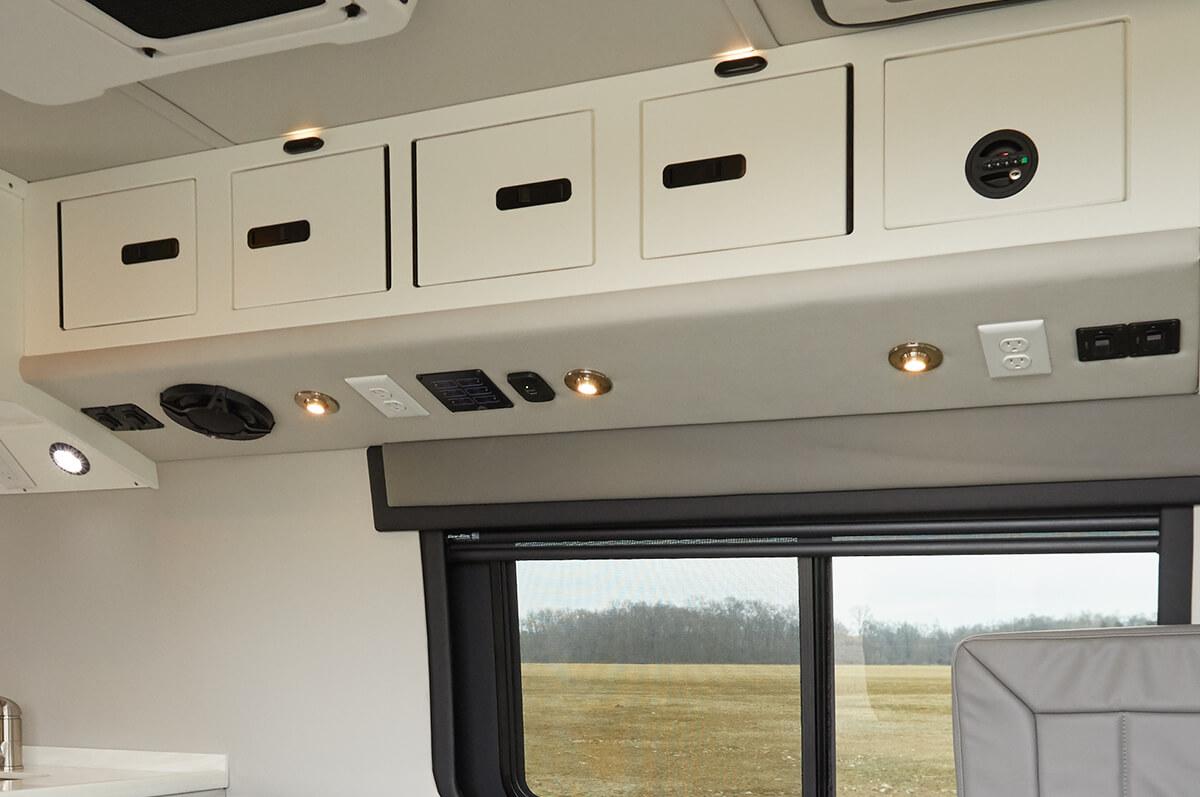 Overhead storage bins