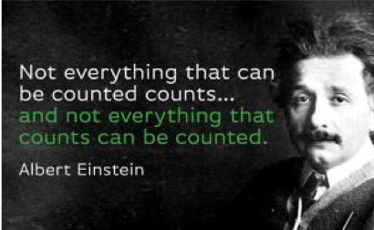 Einstein - Not everything that counts can be counted