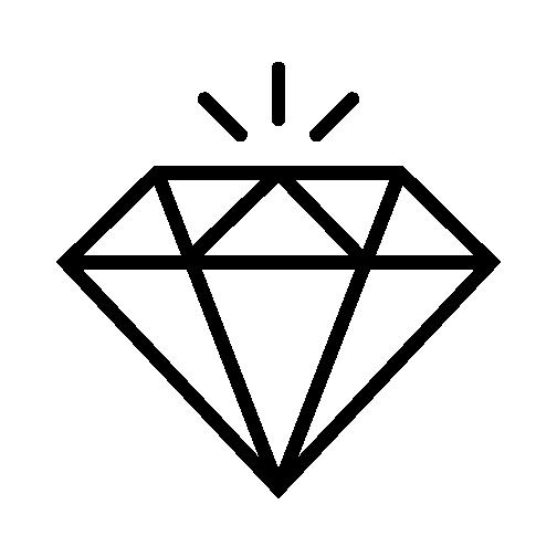 Icon of a diamond