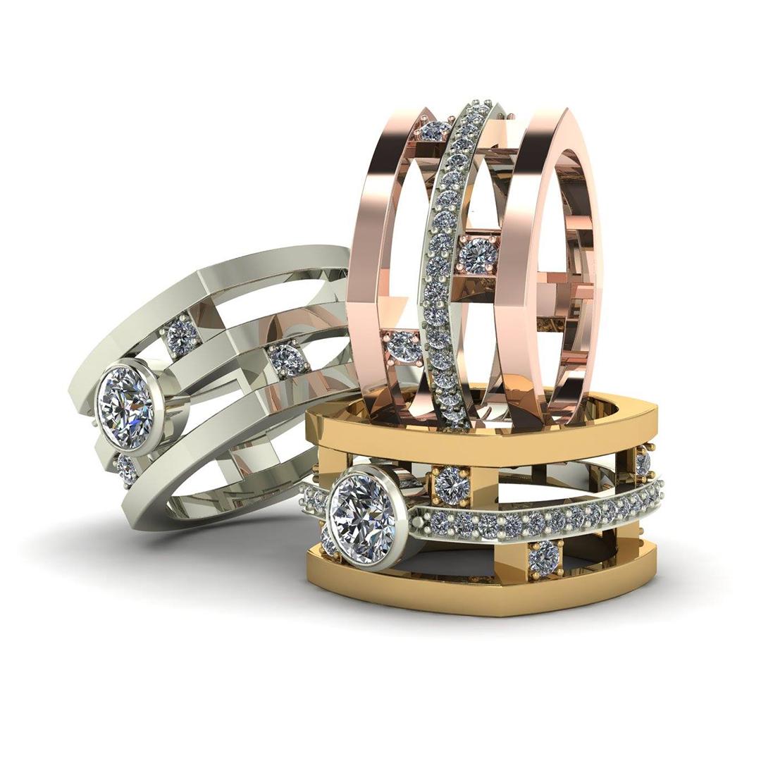 3 Band Fashion Ring