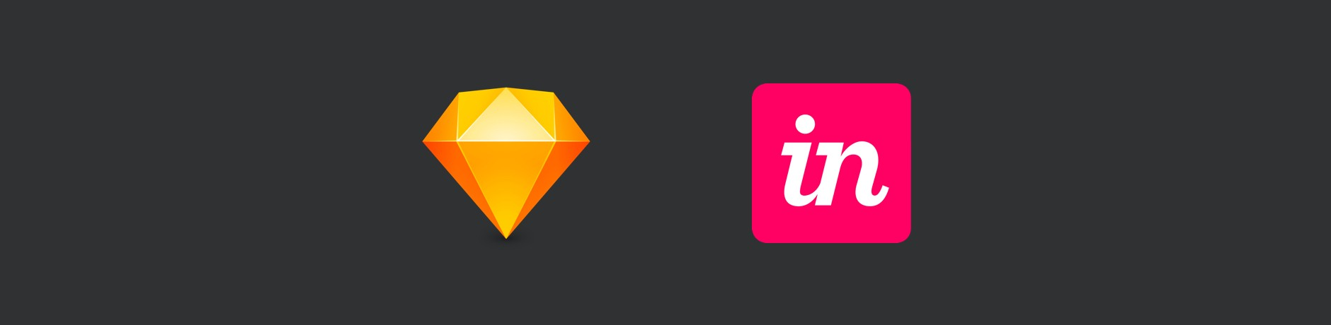 Logos of Sketch and InVision