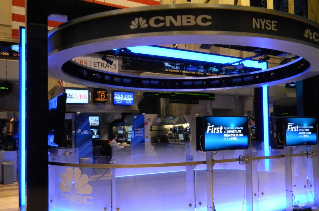 CNBC studio on NYSE floor