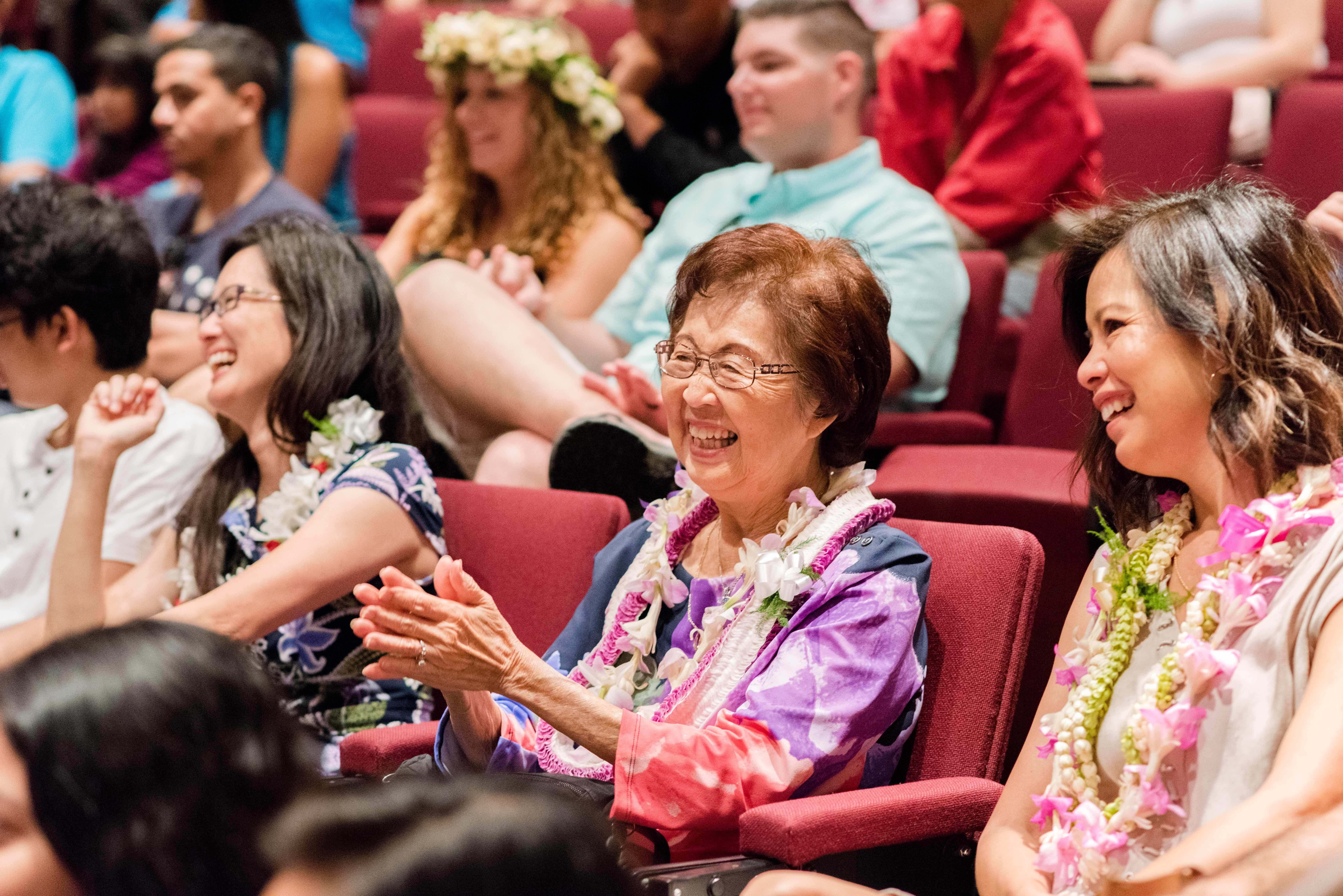 Oahu Church family with seniors