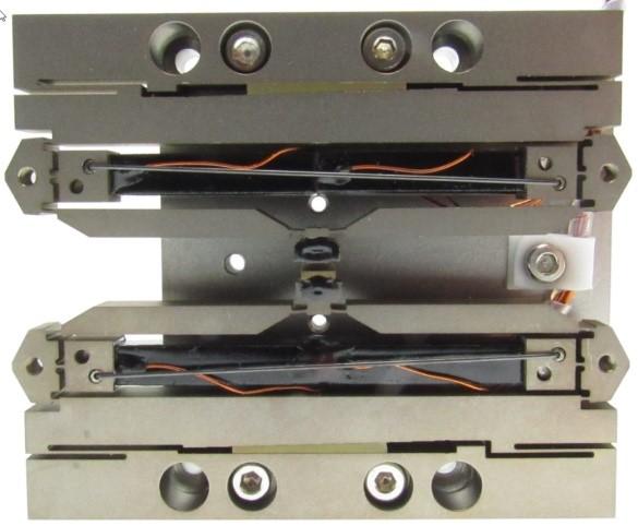 DSM custom PSA piezo actuators configured in a high speed piezo shutter assembly