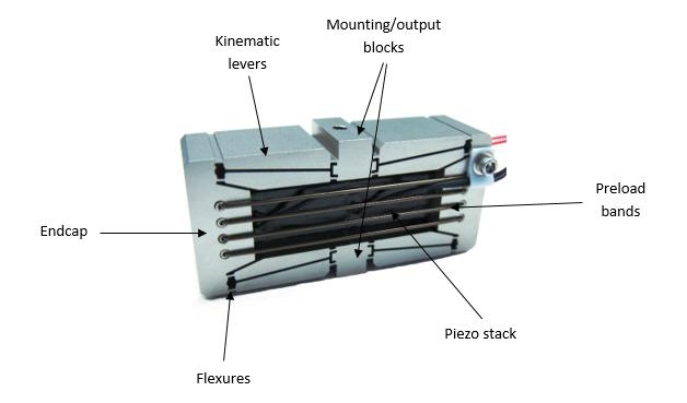 DSM FPA piezo actuator diagram