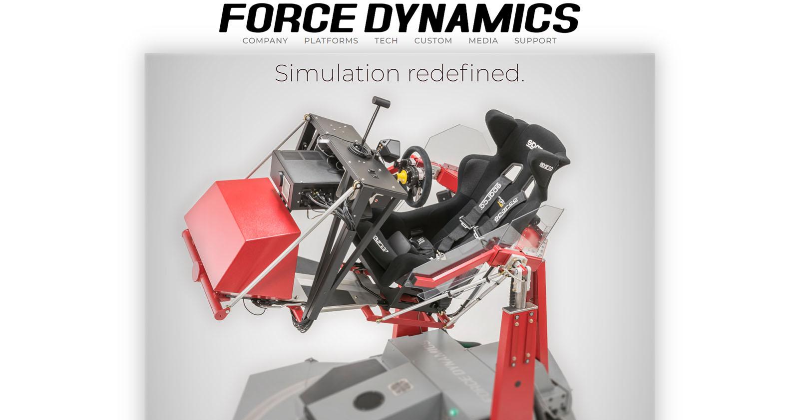 Force Dynamics - Racing simulator and motion platform design