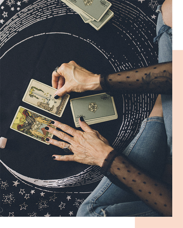 A tarot spread using the Smith Rider Waite deck  |  Jennifer Miranda Grigor