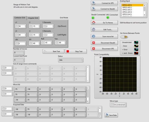 LabVIEW VI screen capture