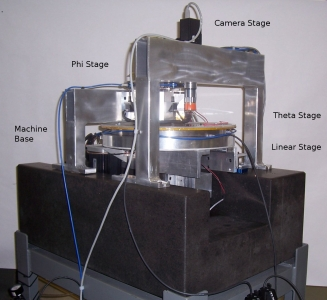 Precision R-theta stage for 300 mm wafer