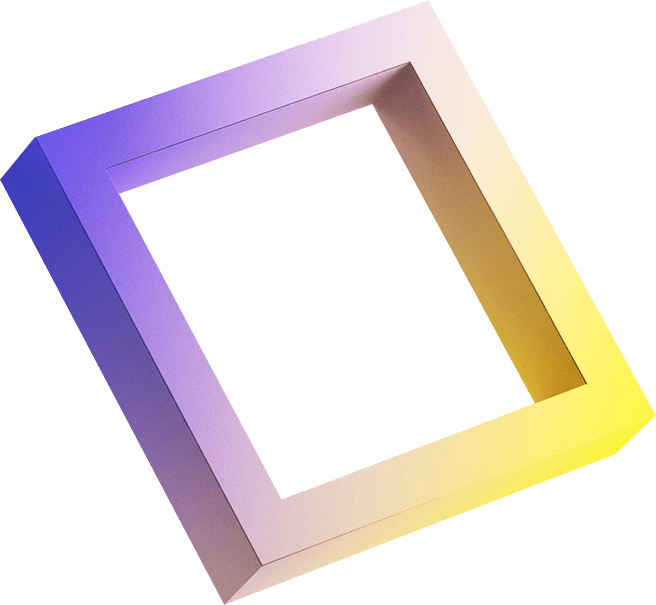 purple and yellow square