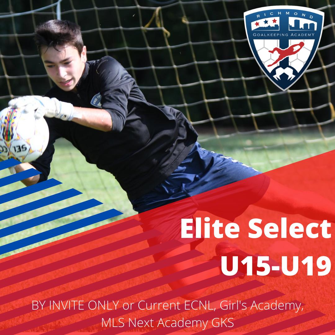 Elite Select Group ages U15 through U19