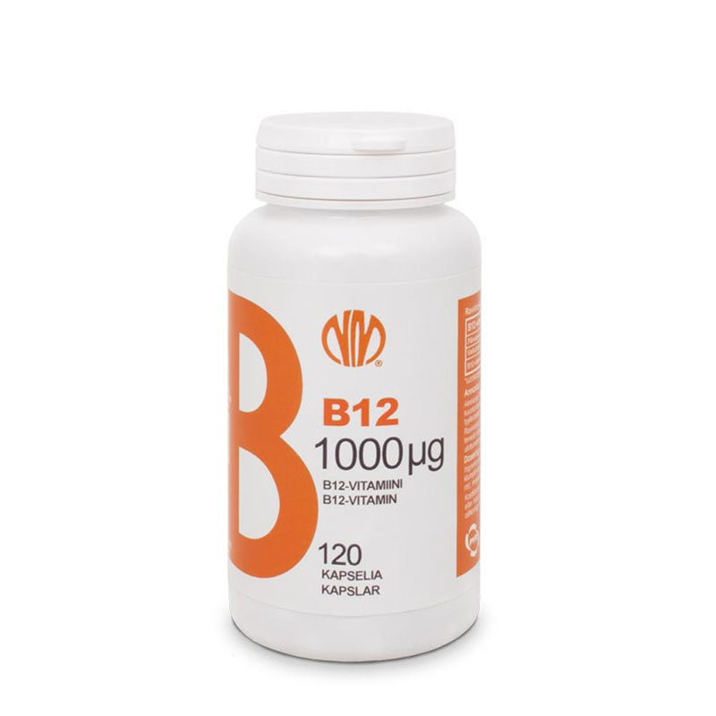 B12-vitamiini 1000µg - Natura Media
