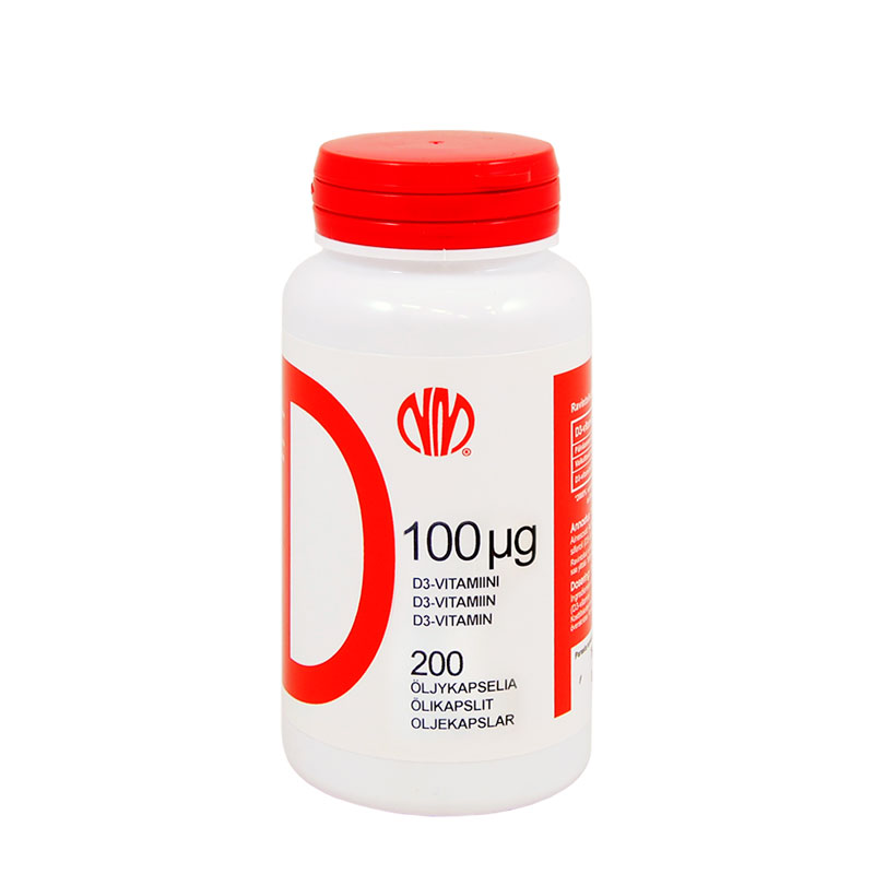 D 100µg (D3-vitamiini) - Natura Media