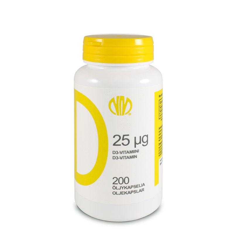 D 25µg (D3-vitamiini) - Natura Media