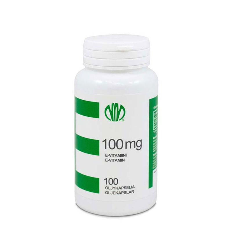 E-vitamiini 100 mg